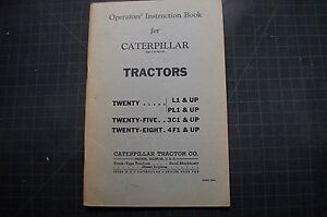 Caterpillar Twenty Five Eight 20 25 28 Tractor Crawler Owner Operation Manual