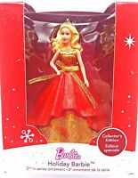 Hallmark Keepsake Red Gold Holiday Barbie Christmas Tree Ornament New 2014