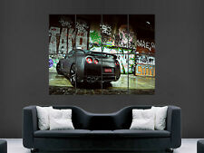 NISSAN GTR GRAFFITI CAR LARGE ART BIG HUGE GIANT POSTER PRINT
