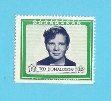 Ted Donaldson Movie Film Star 1947 Hollywood Sticker Stamp
