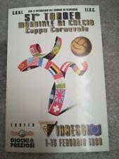 CARTOLINA VIAREGGIO 51 coppa CARNEVALE 1999 calcio football postcard Cup vintage