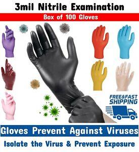 Disposable Gloves Nitrile 100/200 Vinyl Medical Latex/Powder free Tattoo Artist