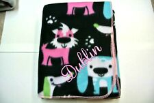 Pet Blanket Terriers Dachshunds Dogs Can Personalize Double Sided Pink 28x22