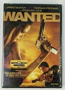 Wanted DVD Movie Angelina Jolie, Morgan Freeman, RATED R NEW