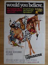 THE LIQUIDATOR (1966) - original US 1 sheet film/movie poster,spy crime thriller