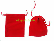 "12/25/50/100pcs Velvet Jewelry Pouch Wedding Party Favor Gift Bag 4x3"" 4.7""x3.5"""
