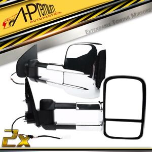 Chrome Extendable Towing Mirrors for Holden Colorado RG Isuzu DMax 2012-2019