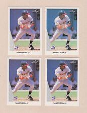 1990 Sammy Sosa RC lot of 28 Leaf Bowman Donruss Fleer Score Topps Upper Deck