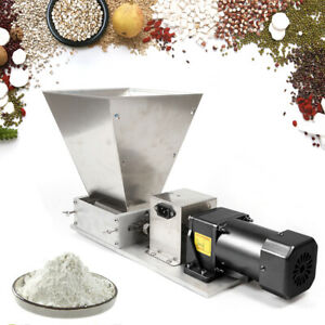 Electric Grain Mill Stainless Steel Grinder Crusher Two-roller Mill 75RPM 4L DHL