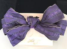 KIRKS FOLLY Barrette Purple Bow Vintage Fabric Covered Hair Barrette KFB