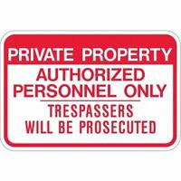 Lyle Ppr-021-18Ha Admittance Sign,12 X 18In,R/Wht,Eng,Text