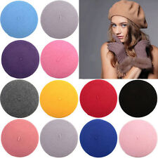 Women Wool Warm Felt French Beret Beanie Newsboy Berets Hat Cap Brimless Gift