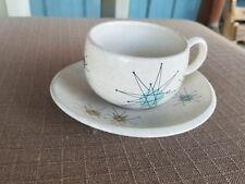 Franciscan Starburst Coffee Tea Cup & Saucer Atomic