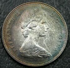 1967 Proof-Like Canada 10 Cents Beautiful Toning .800 Silver