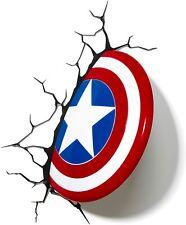 MARVEL Avengers CAPTAIN AMERICA 3D FX Light Wall Deco Night Light + Sticker