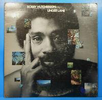 BOBBY HUTCHERSON LINGER LANE LP 1975 ORIGINAL BLUE NOTE NICE CONDITION! VG/VG!!