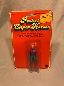 """Pocket Super HeroesLex Luthor Action Figure Mego 1979 MOC New 3 3/4"""" Superman"""