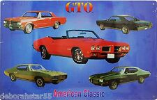 Large USA American Classic Car Pontiac GTO Garage Metal Tin Sign New 42x29cm