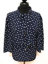 CULT VINTAGE '60 Camisa De Mujer Viscosa Lunares Blusa Rayón Sz. L - 46