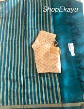 Indian/Pakistani Ethnic Ready To WearFancy Raw Silk Saree with blouse