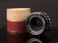 A.Schacht Ulm Edixa-Travegon 35mm F3.5 Manual Focus Lens M42 Fit /w Org. Case