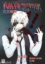 Anime DVD Tokyo Ghoul Season 1 + 2 ENGLISH DUBBED With 2 OVA Complete Box Set