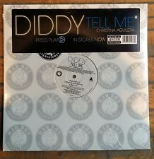 "Diddy + Christina Aguilera ""TELL ME"" [12 inch vinyl] single SEALED Puff Daddy LP"