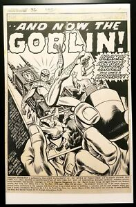 Amazing Spider-Man #96 pg. 1 Gil Kane 11x17 FRAMED Original Art Poster Marvel Co