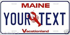 Maine 1987 License Plate Personalized Auto Car Custom VEHICLE OR MOPED