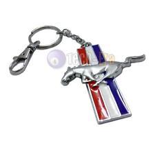 Chrome Finish Pony Horse Key Chain Fob Ring Keychain Mustang GT 500 Cobra Shelby