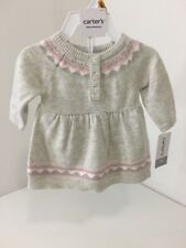 Girls New Born CARTER'S 2-piece Layette Heather Grey/Pink NWT $40.00