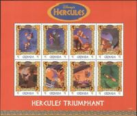 Grenada 1998 Disney/Hercules/Megara/Films/Cartoons/Animation 8v sht (n13512a)