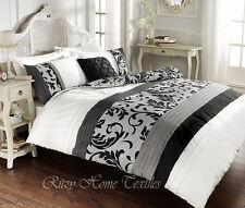 Luxury duvet cover set single double super king  pillowcases polycotton bedding