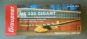 "GRAUPNER Me323 GIGANT - 1:32 SCALE - 6 ELECTRIC ENGINES - 66"" WINGSPAN AIRPLANE"