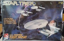 "SEALED~AMT STAR TREK ""U.S.S. ENTERPRISE FLIGHT DISPLAY"" Model Kit # 8787~Skill 2"