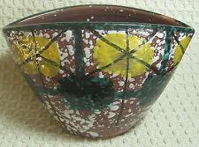 "Ceramic Oval Italian Vase Multi-Color Made in Italy 4.5"" Tall"