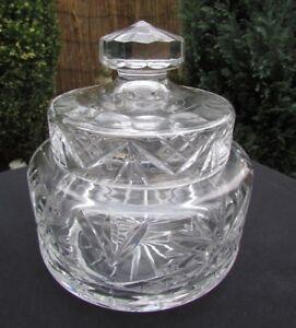 HEAVY CUT CRYSTAL SWEET JAR / COOKIE JAR