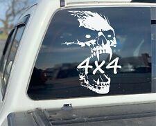 Skull Truck Decals, 4x4 Off Road Stickers, Truck Vinyl Graphics, Set of 2 Decals