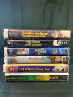 Lot of 6 Kids VHS Tapes Walt Disney, Tim Burton, Warner Brothers