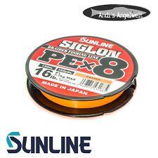 Sunline Siglon PE x8 150m - verschiedene Farben & Stärken - Made in Japan - NEU