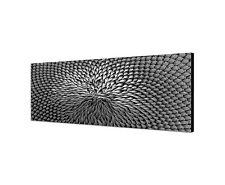 150x50cm Panoramabild Schwarz Weiss - Sonnenblume geschlossener Blütenkopf Macro