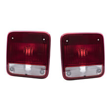 Tail Lights Set fits 1985-1996 Chevrolet GMC Van Pair Taillamp Lens with Housing