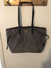 PRADA Nylon Leather Shoulder Tote Bag