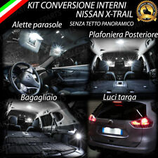 KIT LED INTERNI + LED TARGA PER NISSAN X-TRAIL CONVERSIONE COMPLETA 6000K CANBUS