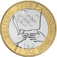 2008 2 STERLINE GIOCHI OLIMPICI Handover PECHINO due Pound Coin Hunt 16/32 RARA 2 ZZ