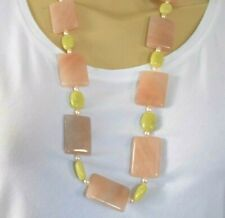 HANDMADE BY DESIGNER 4LESS  JADE/AVENTURINE/FRESH WATER PEARLS NECKLACE