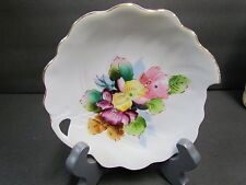 Vintage Occupied Japan Leaf Candy Dish White ~ Gold Trim ~ Very Sweet