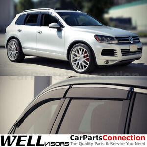 WellVisors Window Visors 11-14 Volkswagen Touareg Sun Visors Deflectors