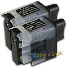 2 Cartucho de tinta negra LC900 Set para Brother Impresora Fax1835C Fax1840C Fax1940