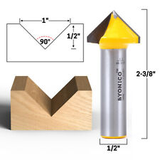 "CRAFTSMAN 90 DEGREE V-GROOVE CARBIDE TIPPED ROUTER BIT 64203 9-64203 1//4/"" SHANK"